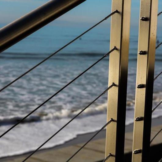Stainless Steel Cable Railing - Rainier Flat Top Rail