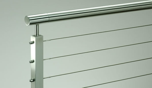 Stainless Steel Cable Railing Rainier Round Top From Ags