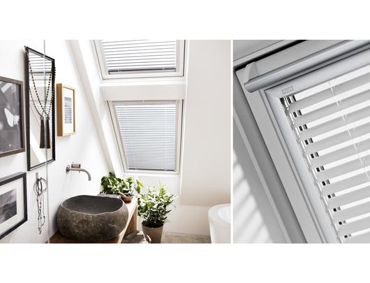 Cortinaje el ctrico para ventanas para techo inclinado de - Persiana veneciana de aluminio ...