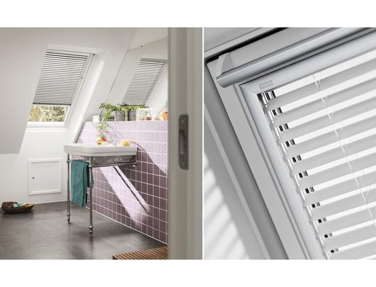 Cortinaje manual para ventanas para techo inclinado de velux - Persiana veneciana de aluminio ...