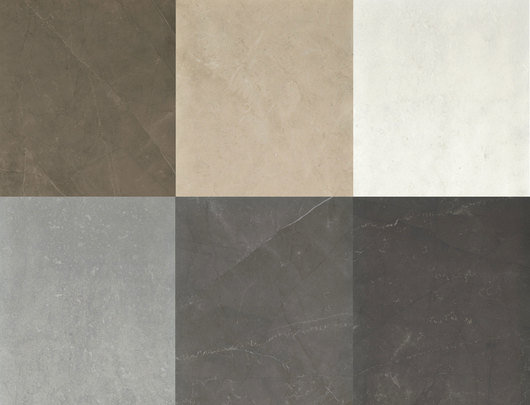 6 colors available: Pulpis Bronze, Cremo Supremo, Bianco Perla, Gris Savoie, Cendre Grey, Alanya Black