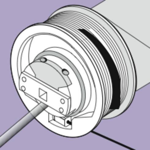 motor con bobina de cable