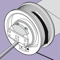 motor motor con bobina de cable