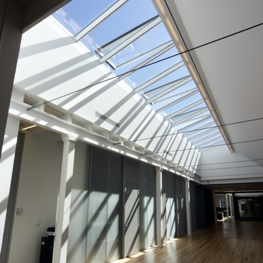 Modular Glass Skylights in Cornell University / VELUX