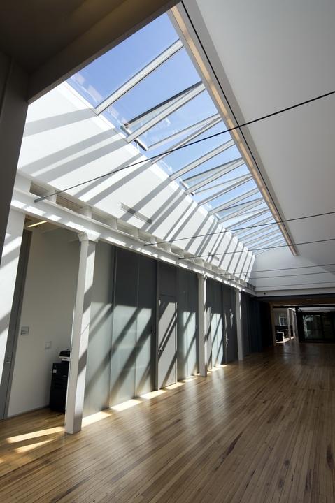 Modular glass skylights in cornell university from velux - Cornell university interior design ...