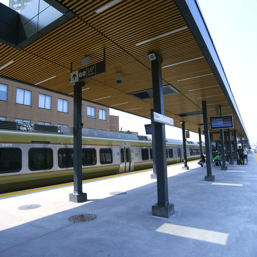 Accoya® Wood at Metrolinx Train Station