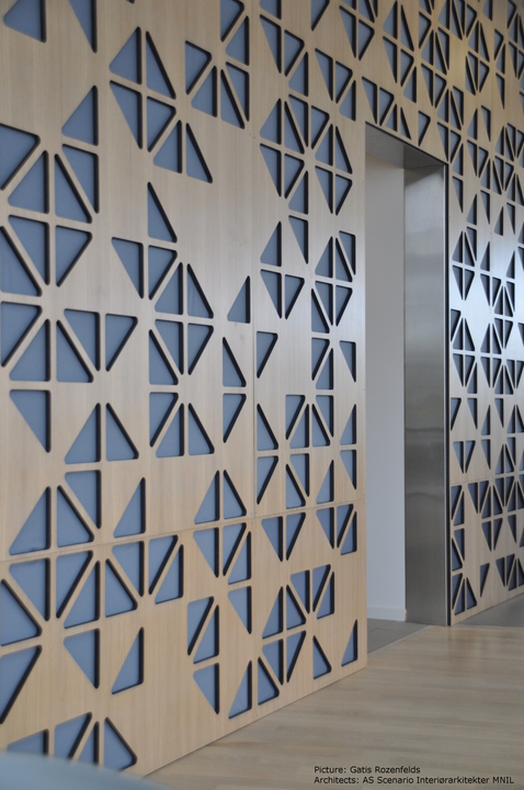 Room Dividers - Partition Wall Oak Plywood