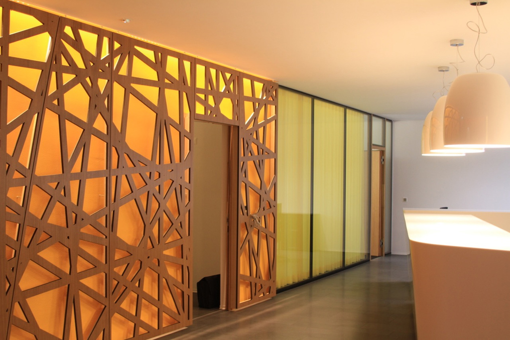 Room dividers partition wall oak plywood from bruag - Readymade partition walls ...