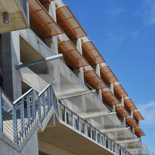 Fabricoil™ Solar Shading Systems for Parking Garages