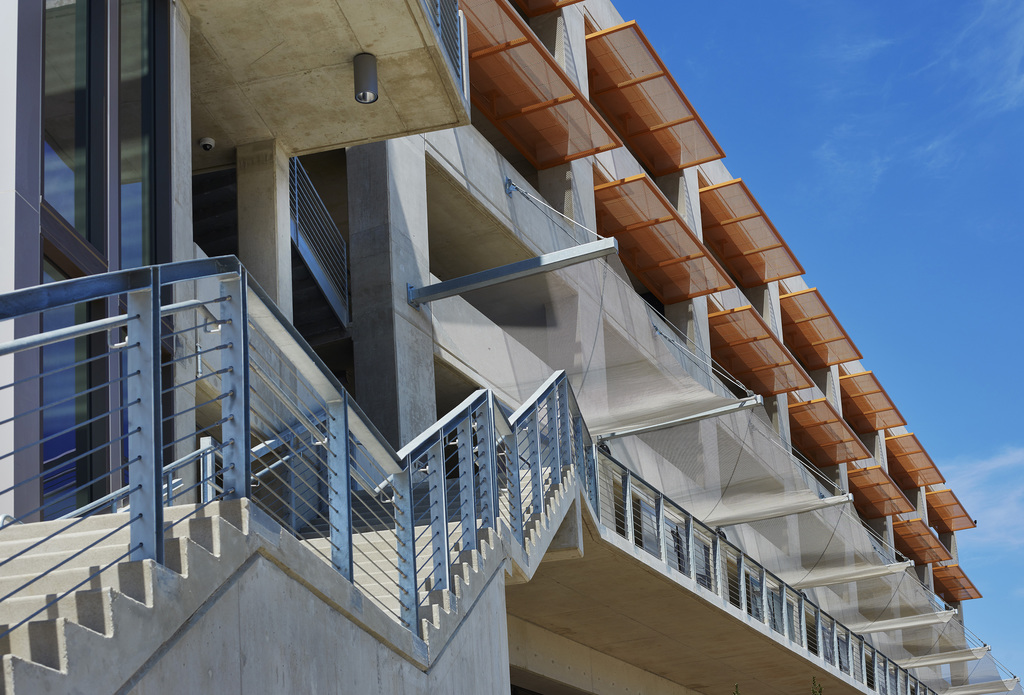 Fabricoil® Solar Shading Systems for Parking Garages