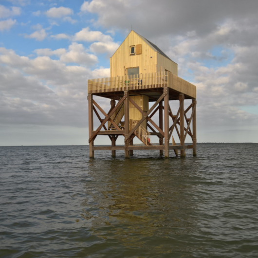 Accoya® Wood at a Rescue House in Waddenzee, the Dutch Sea / Accoya