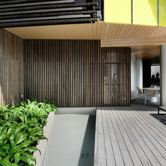 Accoya® Wood in Blackwood Street Appartments in Melbourne