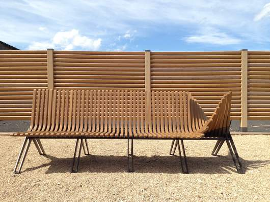 Public seating installation in Dubai