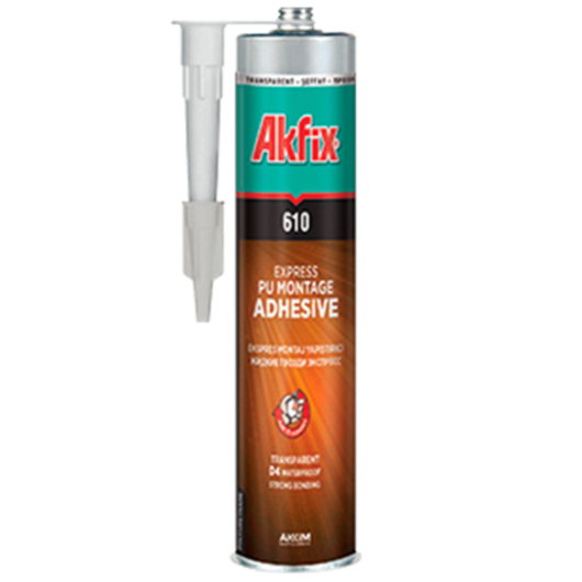 Adhesivo de Montaje Transparente Akfix PU Express / Nuprotec