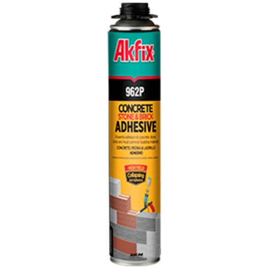 Adhesivo Akfix de Espuma de Poliuretano para Concreto, Piedra y Ladrillo / Nuprotec