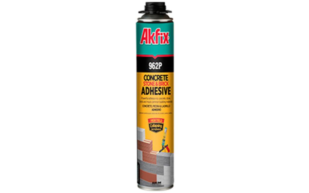 Adhesivo Akfix de Espuma de Poliuretano para Concreto, Piedra y Ladrillo