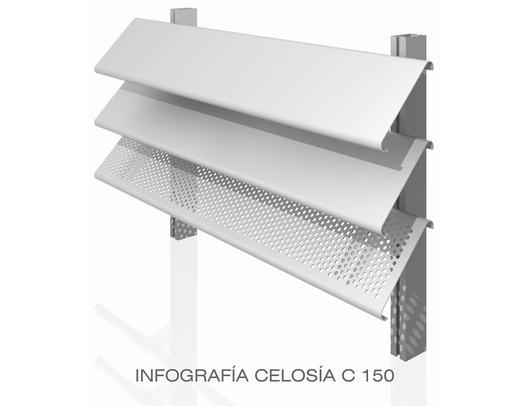 Celos as de aluminio serie c de gradhermetic - Celosia de aluminio ...