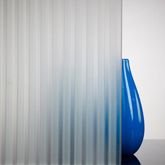 Acid Etched Glass - Venetian Blinds