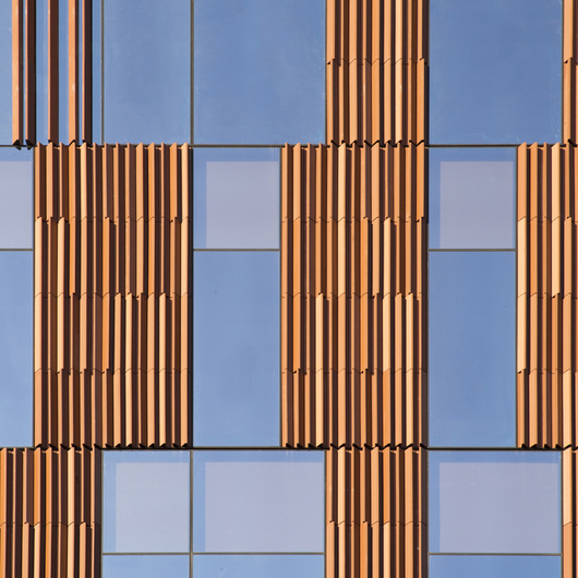 Terracotta Rainscreen Facade System - LONGOTON? Vertical Panels