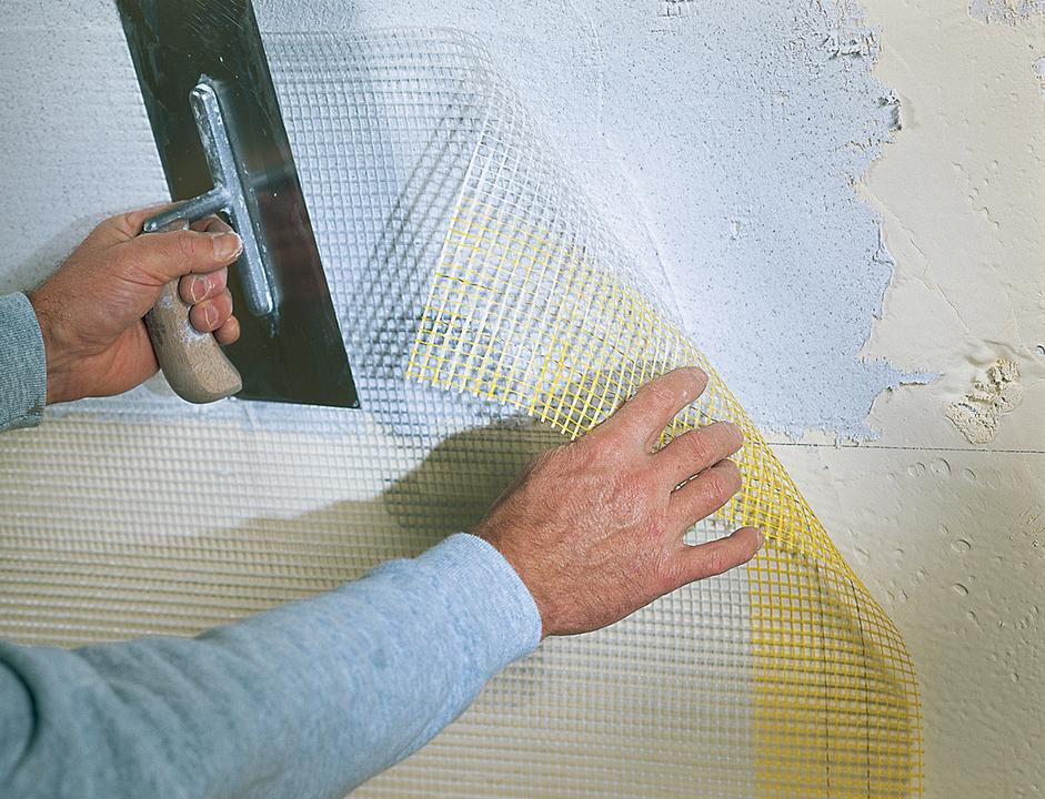 Malla de refuerzo de fibra de vidrio stostandard mesh de sto for Malla de fibra de vidrio