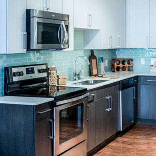 Kitchen countertops in Elizabeth Street multi-family housing