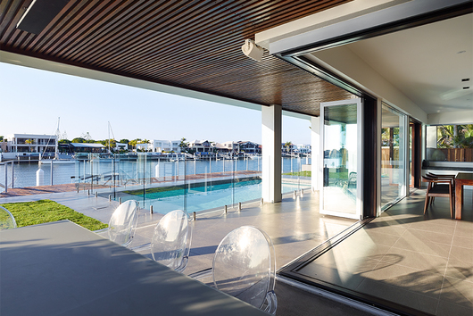 Choosing the Integrated Folding Doors was a the ideal solution to a specific problem the home experiences harsh sunlight and glare from the water in the ... & Integrated Doors in Mooloolaba Residential Project from Centor