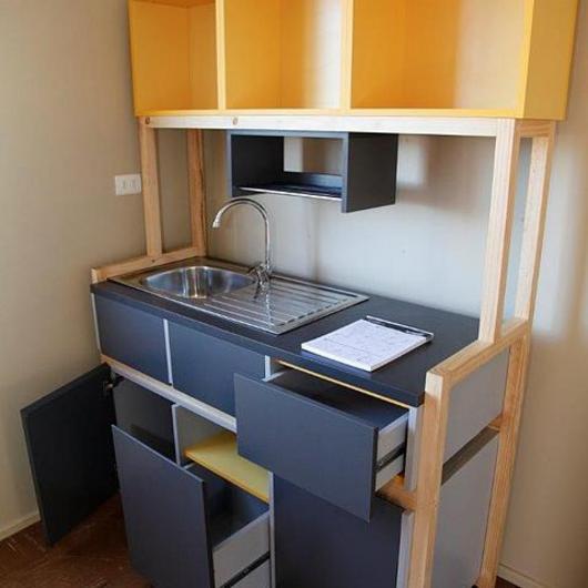 Productos Arauco en cocinas para vivienda incremental
