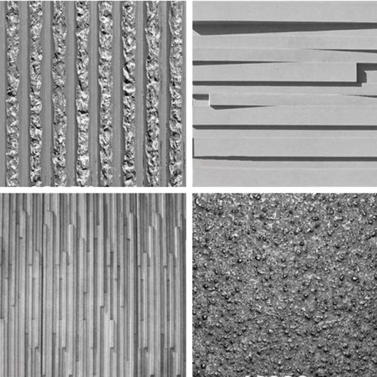 Texturas Panel de Moldaje prefabricados para Hormigón Visto