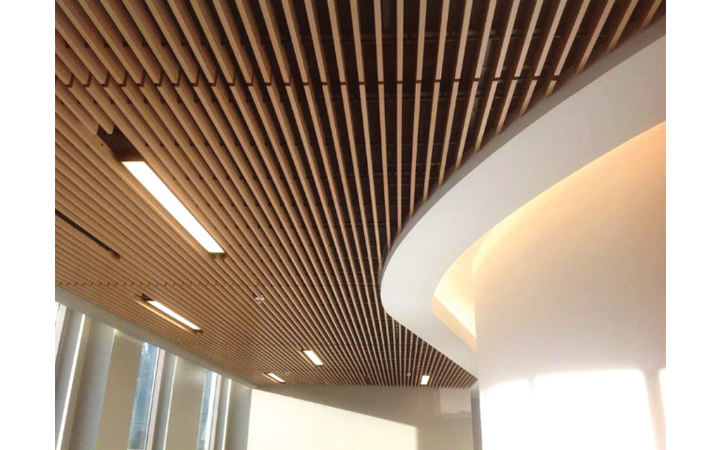 Linear Ceiling Grills : Linear wood and grille ceilings from decoustics