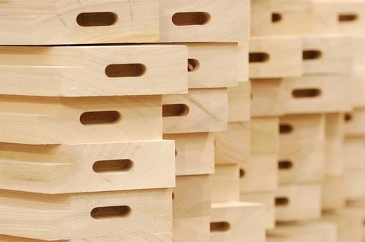 Piezas de madera sólida dimensionadas