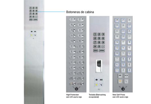 Botones de cabina