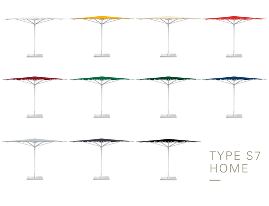 Type S7 Aluminium Umbrellas - Colors