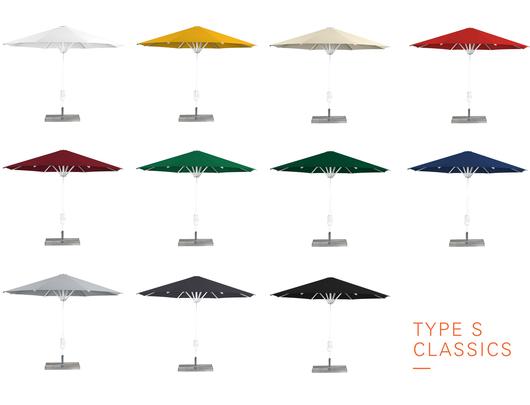 Type S Aluminium Umbrellas - Colors