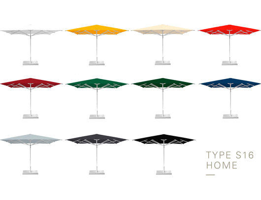 Aluminium Umbrellas - Type S16 - Colors