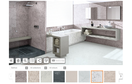 Visualización de baño