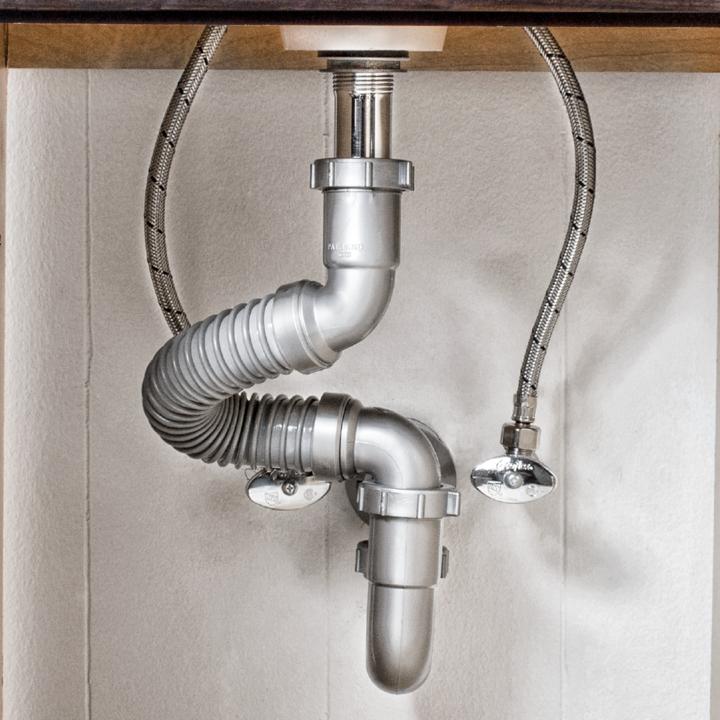 Trampa flexible sencilla para lavabo o fregadero de coflex - Sifones para lavabos ...
