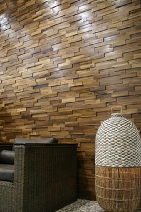 Revestimiento de muro brick wall de ab kupfer - Muro de madera ...