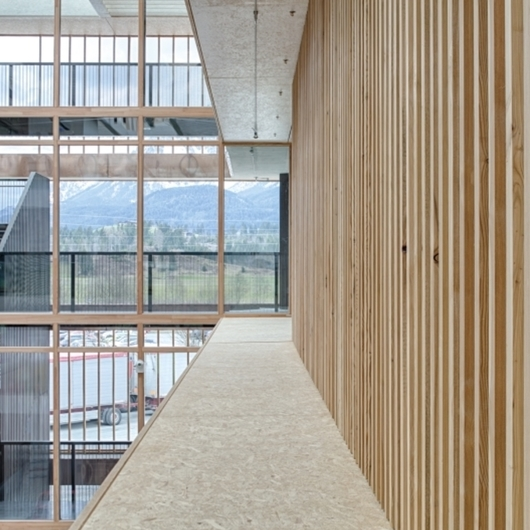 Wood-based materials in EGGER Headquarters / EGGER