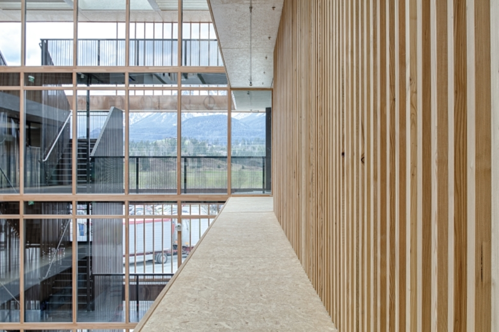 Wood-based materials in EGGER Headquarters