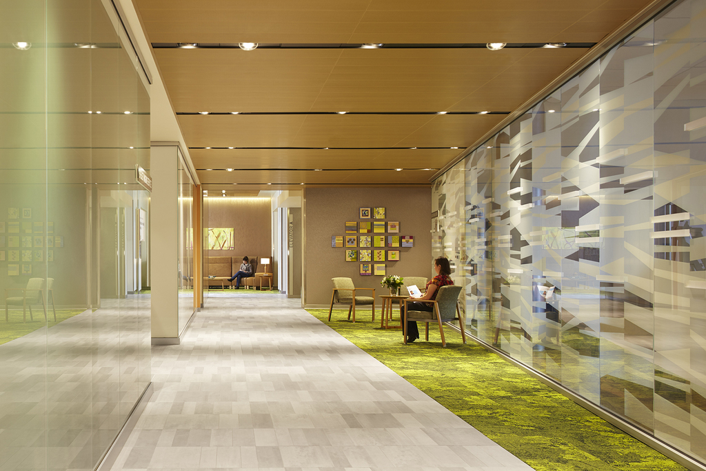 Floor Tiles in ProHealth Care Cancer Treatment Facility in Wisconsin