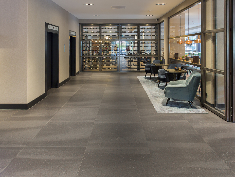 Floor Tiles In Van Der Valk Hotel In Antwerp From Mosa